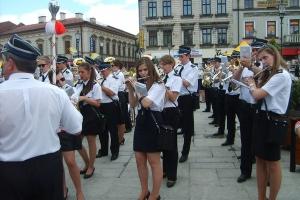 Orkiestra Dęta Tąpkowice na koncercie w Wadowicach